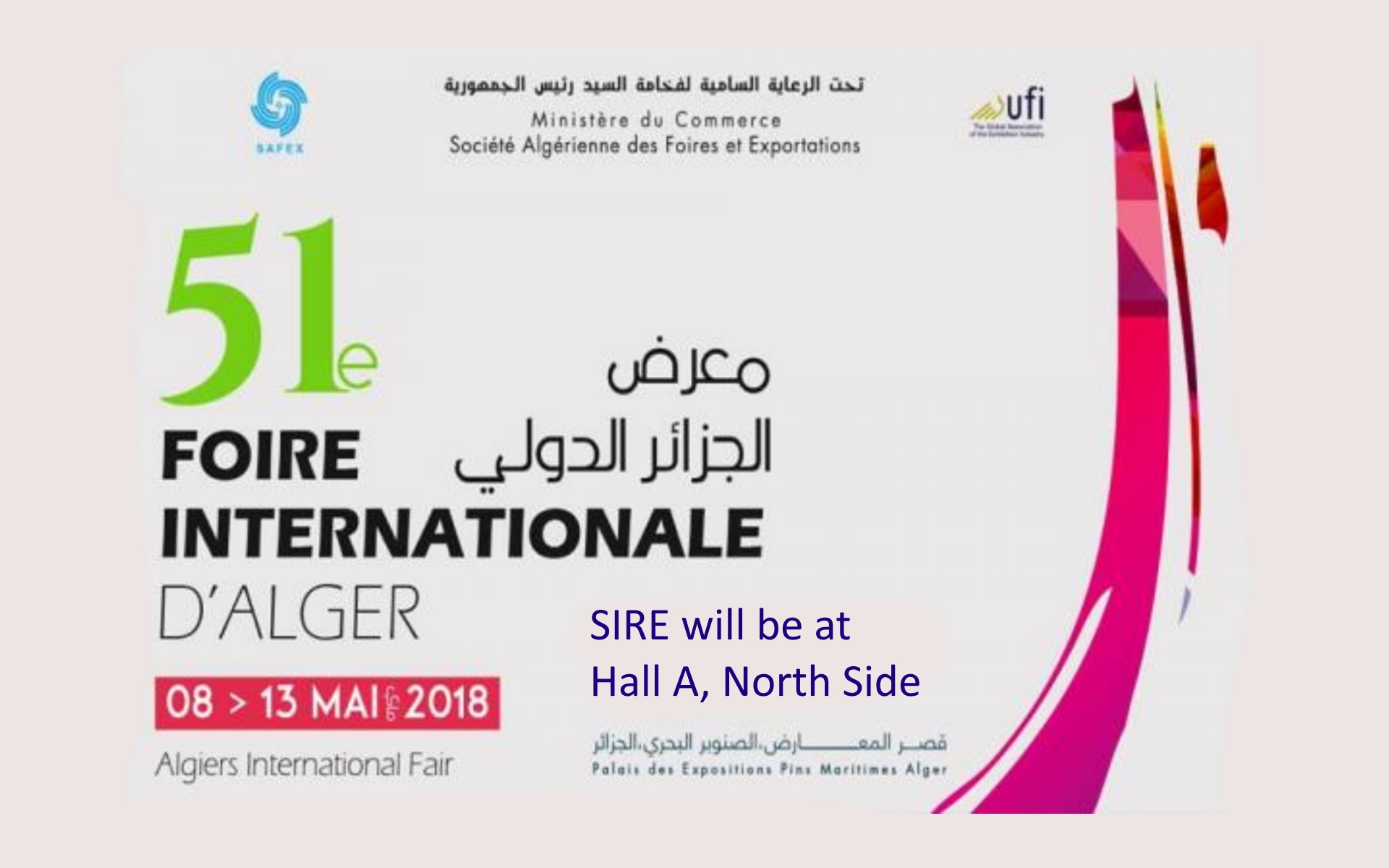 MEET US @ La Foire Internationale d'Alger